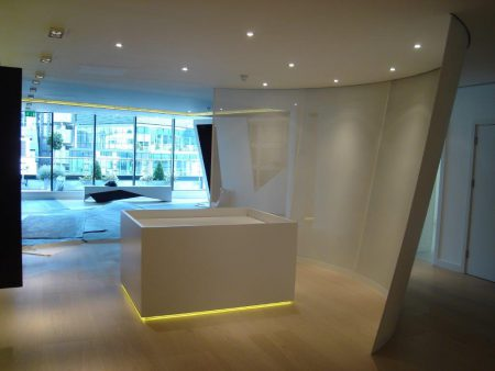 Sheet Metal Office Partition Central London