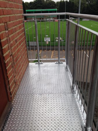 Structural Steel Stairs Landing