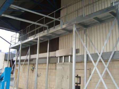 Walkway Platform & Steel Stairs Installed in Coventry